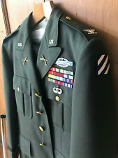 Korea Vietnam US Army General Uniform Complete Visor Cap Shirt Trousers