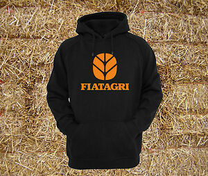 Fiatagri 110-90 Tractor 90-90 Black Heavyweight Hoodie Sweat All Sizes S - XXL