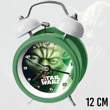 Sveglia Analogica Con Campanelle Star Wars Yoda Maestro Jedi Diametro 12cm