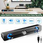 9D Surround Soundbar Wired Computer Speaker Stereo for Laptop PC Aux 3.5mm V8H1