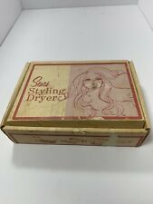 Sears Vintage Luggage Style Portable Deluxe Hair Styling Dryer
