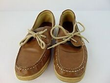 Dexter Mens Boat Shoes Size 11 Brown Slip On Loafer Lace Up