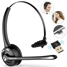 Delton Wireless Computer Headset w/ Mic for Call Center - Usb Dongle Included