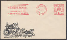 1954 Brighton & Hove 1 OCT 1 1/2d Postal History Society Advertising Meter/Cover