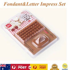 26pcs Letter Cookies Biscuit Cutter Fondant Embosser Cake Mold DIY Press Stamp