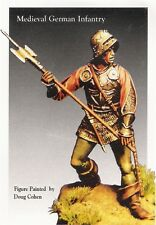 TIME MACHINE MINIATURES TMP12 Medieval German infantry 54 mm.