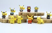 "Pokemon GO 10 pcs 1.5"" Pikachu Action Figures Set Cake Toppers Party Gift"
