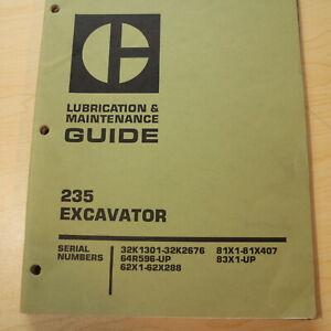 CAT CATERPILLAR 235 Crawler Excavator Owner Maintenance Lubrication Manual Book