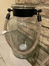 Pottery Barn Hyannis Lantern Bronze Lantern Size Medium Indoor Outdoor New