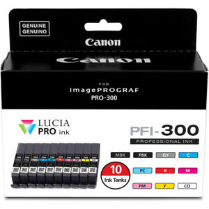 Canon PFI-300 Ten Color Ink Tank Pack