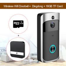Smart Wireless Visual Doorbell Camera Motion Detection Video Audio+16GB+Dingdong