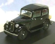 OXFORD DIECAST 1/43 1934 AUSTIN SEVEN 7 RUBY SALOON BLACK/GREEN STRIPE 43RUB004