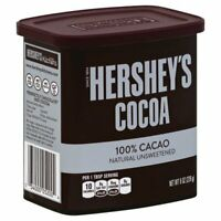 (2 pack) HERSHEYS COCOA 100% CACAO Natural Unsweetened 8 oz exp 2022