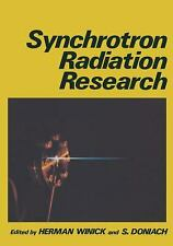 Synchrotron Radiation Research by Winick, Herman