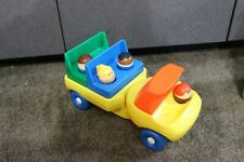 RARE Vtg Little Tikes Chunky People Toddle Tots Figures Flat Bed Bus style truck