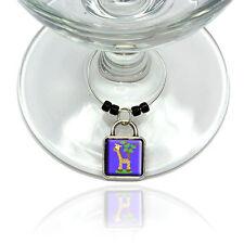 Giraffe Wine Glass Drink Marker Charm Ring