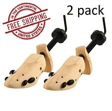2 pack Large Wooden Shoes Stretcher Men or Women Shoes Size 9.5-13 Unisex 2 Way