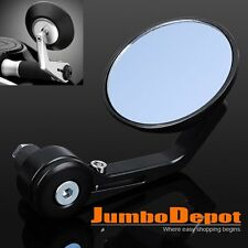 1Pcs CNC Motorcycle 3'' Round Side Mirror 7/8'' Handlebar End For Cafe Racer