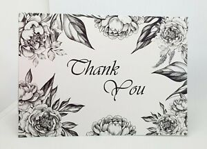 Thank You Cards A6 High Gloss Packs of 10 complete with Envelope