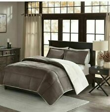 Madison Park King / Cali King Down-Alternative Reversible Comforter Set Grey