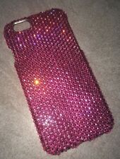 Made With SWAROVSKI ELEMENTS Rose Pink Crystal BLING Case For IPHONE 6s 6 4.7