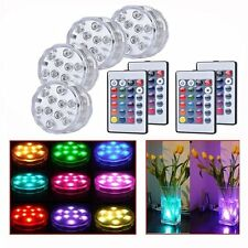 10LED RGB Light Submersible Party Wedding Vase Underwater Remote Control Lamp