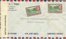 British Honduras SG#155(x2) BELIZE 31/DE/40 WWII CENSOR TAPE-AIR MAIL to USA