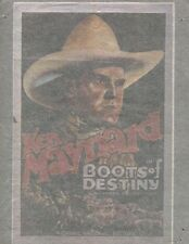 KEN MAYNARD/BOOTS OF DESTINY vintage 70s iron on t shirt transfer NOS