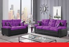 purple sofa sets for sale ebay rh ebay com purple sofa set price purple colour sofa sets