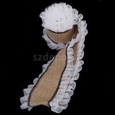 3M Jute Hessian Burlap Ruffled Lace Mesh Edge Ribbon Wedding Rustic Craft