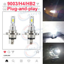 NEW H4 9003 HB2 LED Headlights Bulbs Conversion Kit 45W 6000LM 6000K White