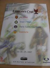 28/07/2007 At Arsenal: Emirates Cup - Inter Milan v Valencia & Arsenal v Paris S