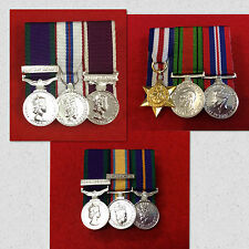 3 x Supplied & Court Mounted Miniature Medal Group Choose Your Miniature Medals