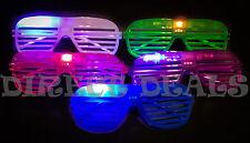 50 Light Up LED Shutter Glasses Glow Halloween Rave Costume Sun Glass Rockstar