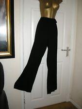 10 BLACK WIDE LEG TROUSER PETER MARTIN SMART QUALITY FULLY LINED 31 LEG