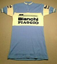 Vintage rare early 1980s Bianchi - Piaggio Wool Professional Cycling Team Jersey