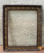 CADRE BOIS MOULURE DE PÂTE. 61,5 x 51,5 cm.