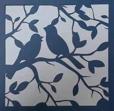 Scrapbooking - STENCILS TEMPLATES MASKS SHEET - Bird Stencil