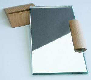 Handspiegel Kosmetikspiegel Griff Buche extravagant rechteckig ARTIKEL-Design