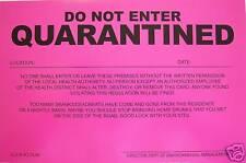 2 PRANK NOTICES ... ( Quarantined )...  Novelty Sign