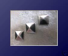 50 Hotfix Metall - SonderFormen Nailheads  Quadrat 7 mm Silber Karostonebxo