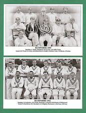 TADDYCLOWN.CO.UK - SET OF 20 COUNTY CRICKET TEAM POSTCARDS - HAMPSHIRE  TO 1962