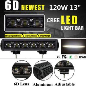 13inch 120W CREE LED Work Light Bar Spot Driving Fog Lamp Offroad 4WD 8D ATV
