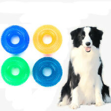 Durable Ball Chew Pet Dog Puppy Teething Dental Clean Toy Molar Sound Toy 6Color