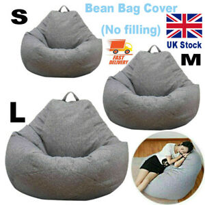 Adult Kids Large Bean Bag Chair Sofa Couch Cover Indoor Lazy Lounger No filling