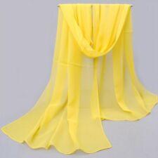 NEW Fashion Women Long Soft Wrap Lady Shawl Chiffon Silk like Scarf Scarves