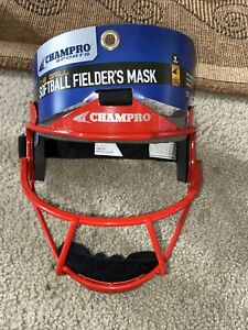 """Champro The Grill Defensive Fielder's Facemask, Scarlet, 6 1/4""""- 6 3/4"""""""