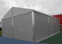 Leichtbauhalle 10x10x4 sk 25kg  Industriezelt Lagerzelt Lagerhalle Aluhalle
