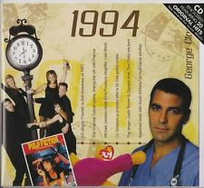 24th Anniversary or Birthday gift ~ Hit Music CD from 1994 & Greeting Card
