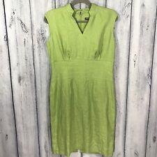 Adrienne Vittadini NWOT Dress 100% Linen Green Size 6 Lined Has No Belt 118.00